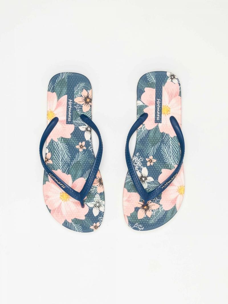 ada9ee2ff4f Σαγιονάρες θαλάσσης με λουλούδια - Μπλε