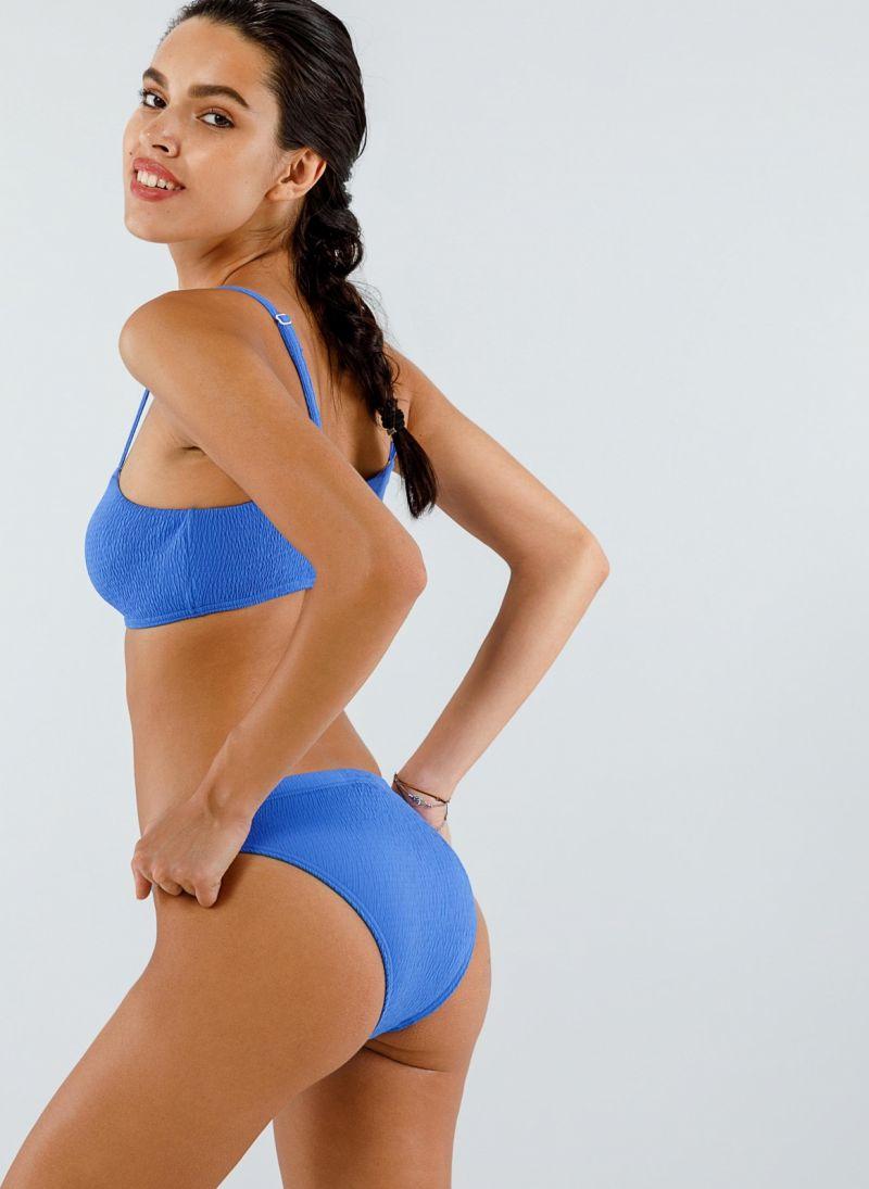 Σετ γκοφρέ bikini με top μπουστάκι