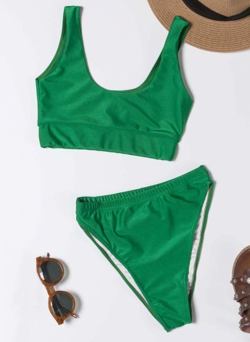 Σετ ψηλόμεσο bikini με αθλητικό top