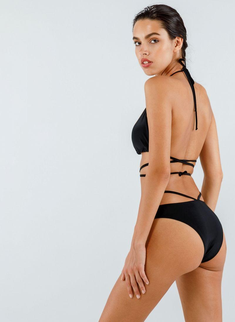 Σετ ψηλόμεσο bikini με top τριγωνάκι
