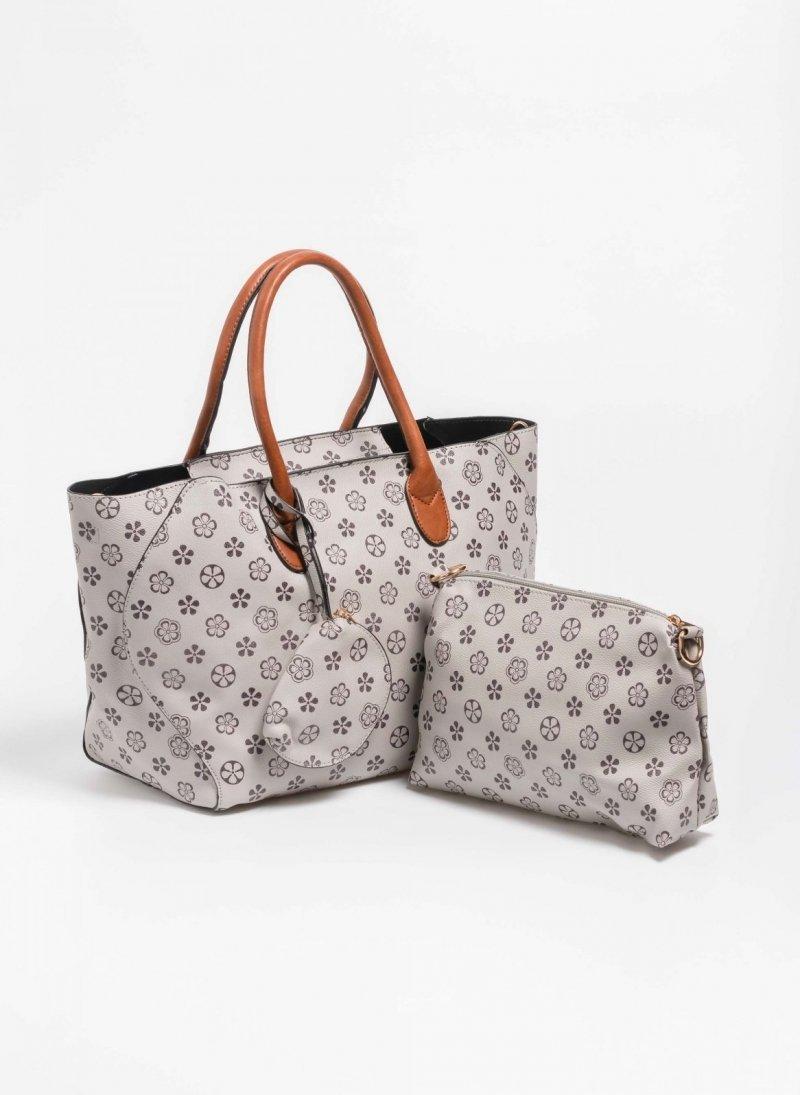 Σετ τσάντες με pattern - Πούρο - TheFashionProject f6a81b58386