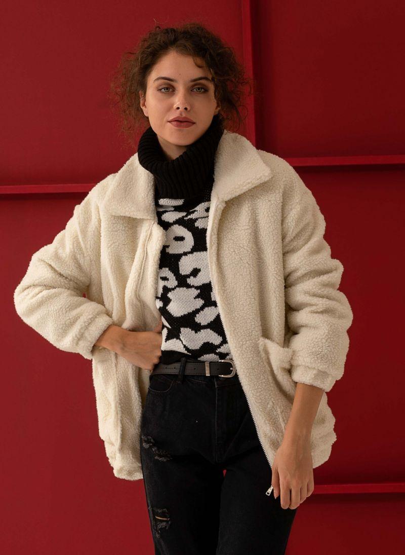 Sheepskin μπουφάν με γούνινη επένδυση - Ζαχαρί - TheFashionProject 5da4dd0856e