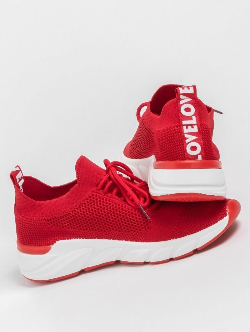 Sneakers από ελαστικό ύφασμα τύπου κάλτσα - Κόκκινο - TheFashionProject 92ce4aceb2f