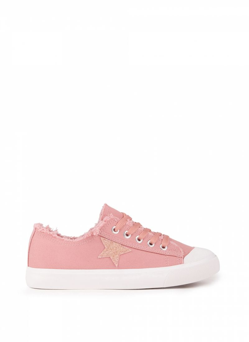 Sneakers με glitter αστέρι - Ροζ - TheFashionProject f7c3603e394