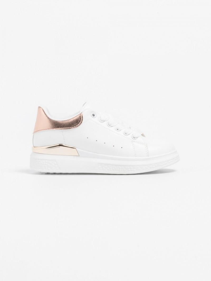 Sneakers με μεταλλική λεπτομέρεια στη σόλα - Λευκό Χαλκό ... 6b1db4c9aac