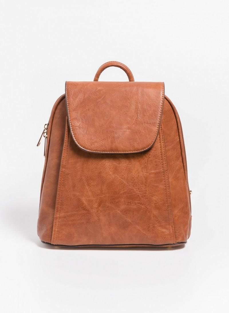 Τσάντα πλάτης με καπάκι - Ταμπά - TheFashionProject 0b5a87212ae