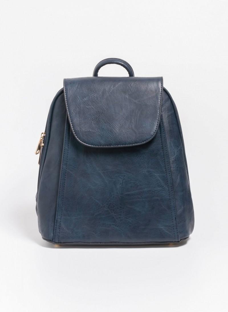 034952e353 Τσάντα πλάτης με καπάκι - Μπλε σκούρο - TheFashionProject