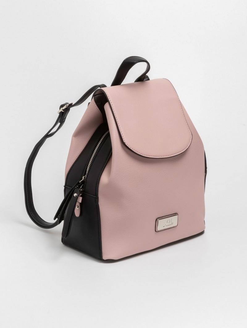 Τσάντα πλάτης με καπάκι - Μαύρο Nude - TheFashionProject 005df9b90b3