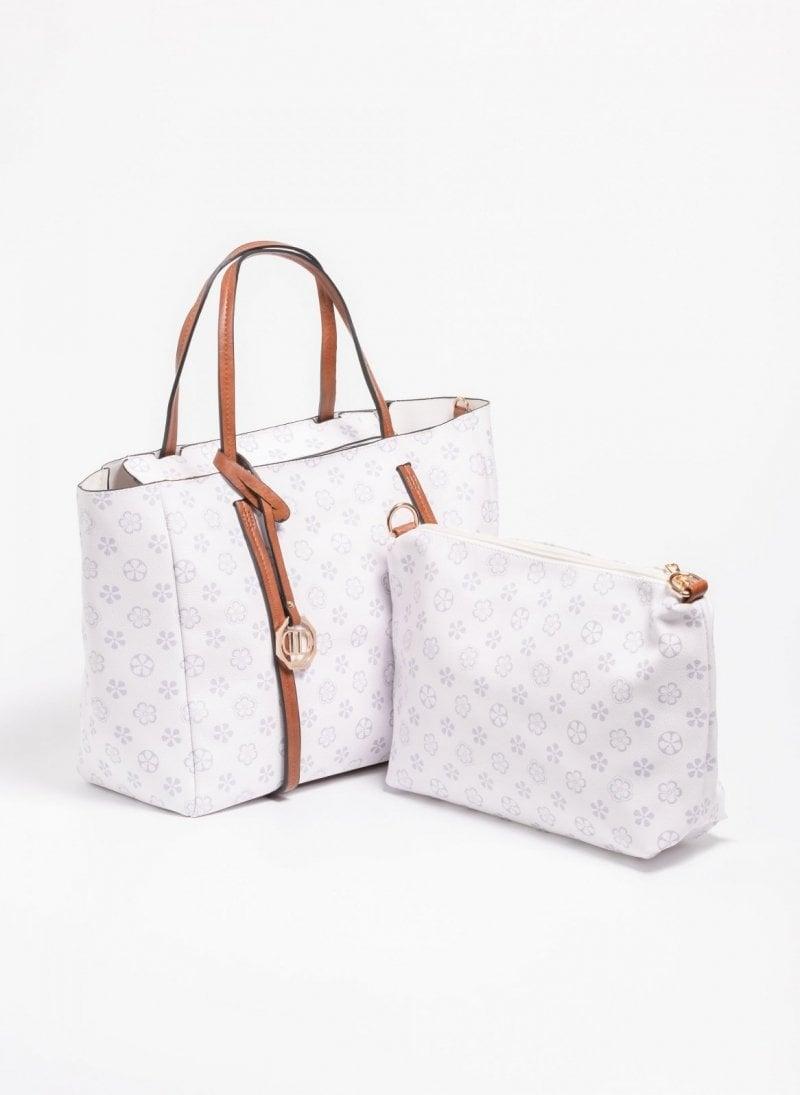 df28a80b8b Τσάντα χειρός με pattern - Λευκό - TheFashionProject