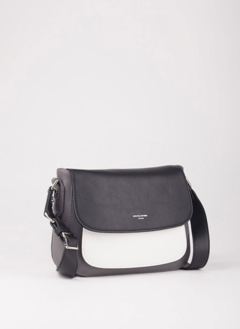 c50c8d4a65 Τσάντα χιαστί με καπάκι - Γκρι - TheFashionProject