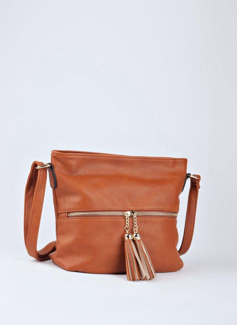 Τσάντα χιαστί με κρόσσια
