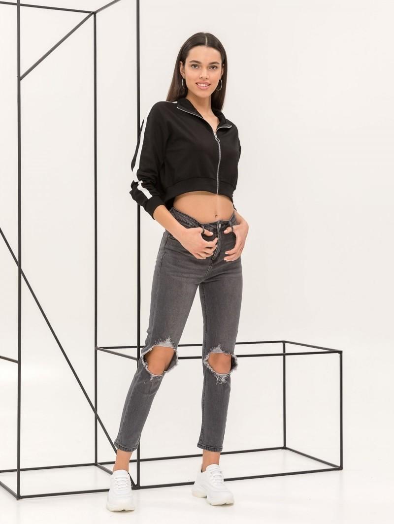 Τζιν παντελόνι με σκισίματα - Μαύρο - TheFashionProject 3bf4ef6bbdc