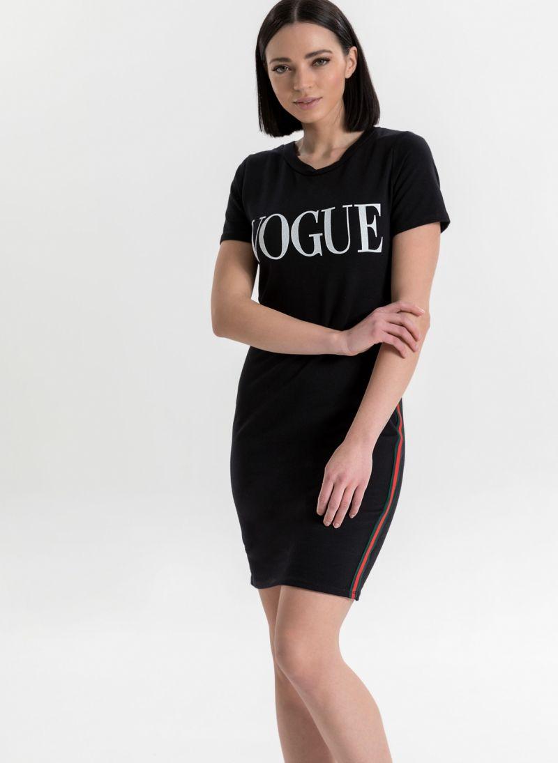 dcaab37b1c5b VOGUE μακό midi φόρεμα - Μαύρο - TheFashionProject
