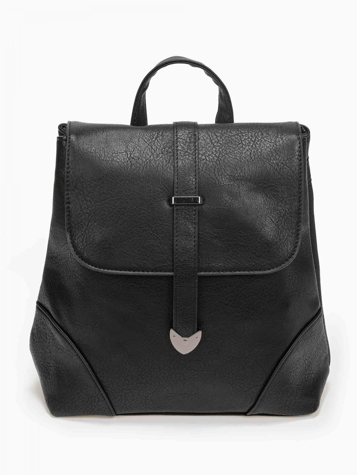 Τσάντα πλάτης με δύο θήκες - Μαύρο
